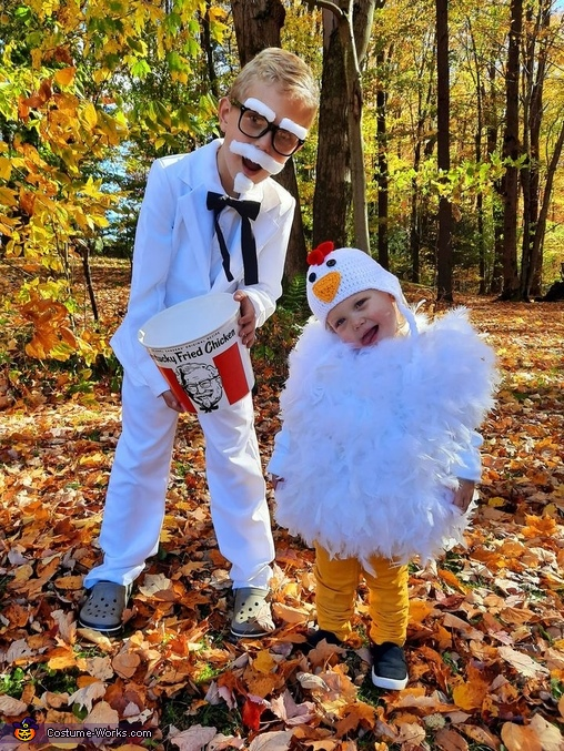 Colonel Sanders and his Famous Chicken Costume
