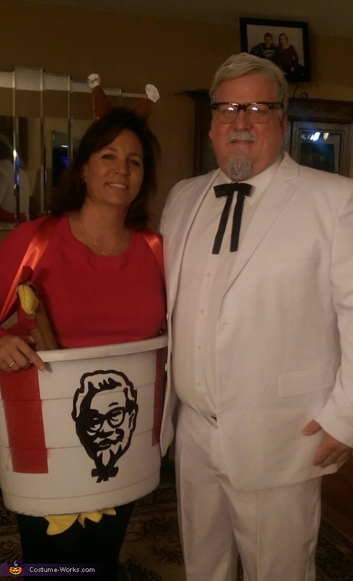 Colonel Sanders and his personal Bucket Costume