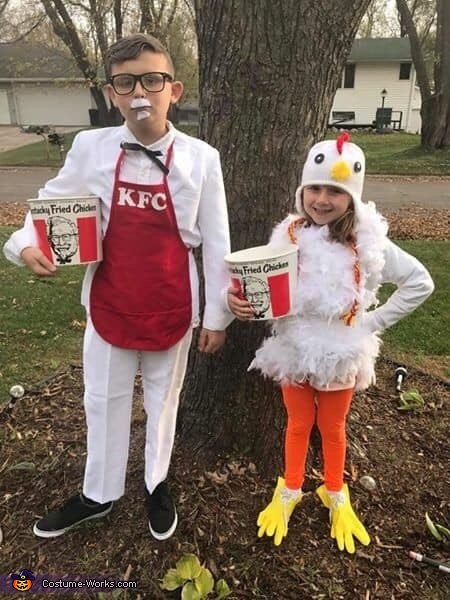 Colonel Sanders and the Chicken Costume