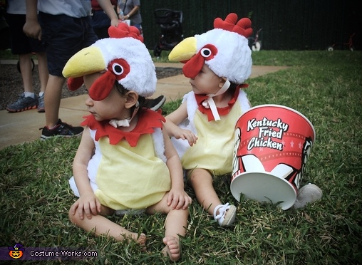 KFC chickens, Colonel Sanders and Two Chickens Costume