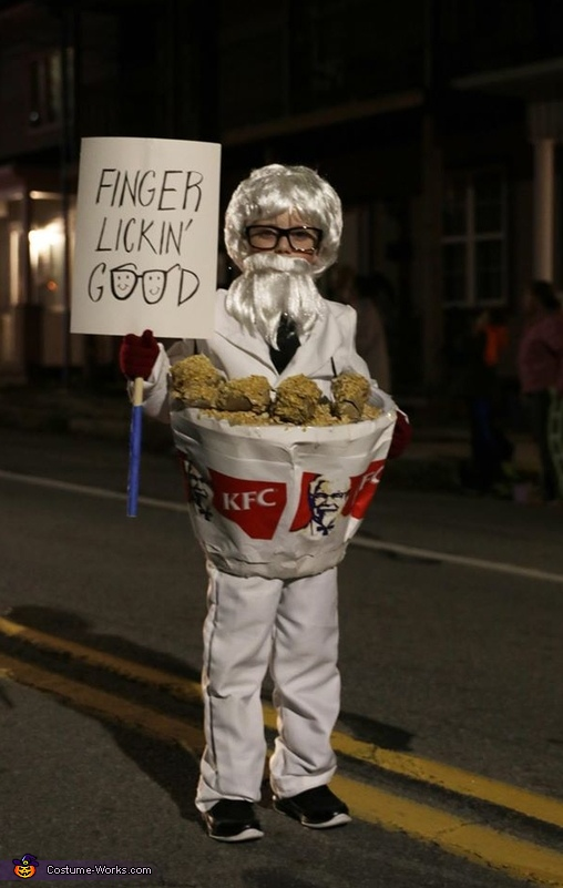 Colonel Sanders in a Bucket of Chicken Costume