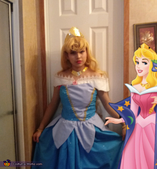 Color Changing Sleeping Beauty Homemade Costume