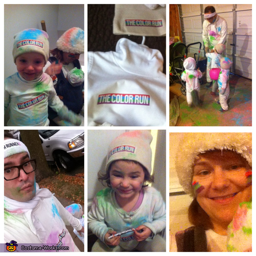Color Run collage, Color Runners Costume