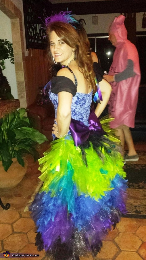 Colorful Peacock Costume