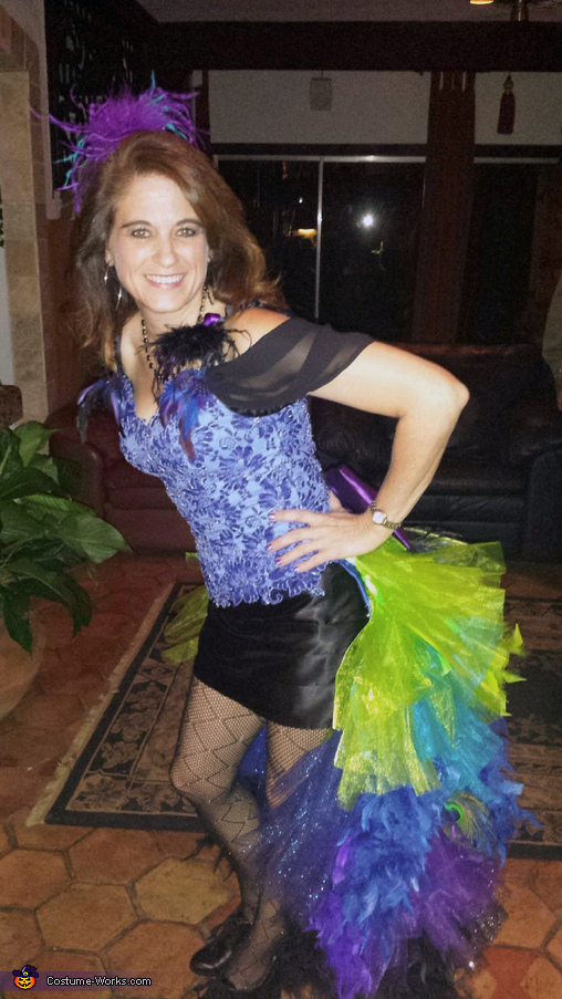 Side View, Colorful Peacock Costume