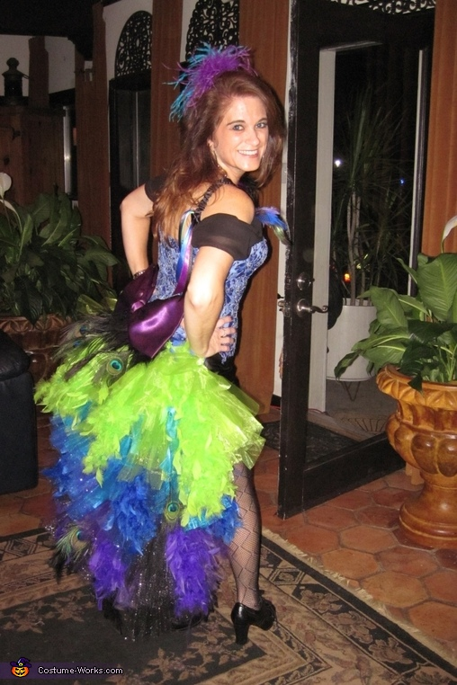 Another back side view, Colorful Peacock Costume