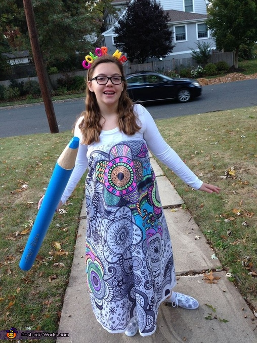 Color Me In, Coloring in Book Costume