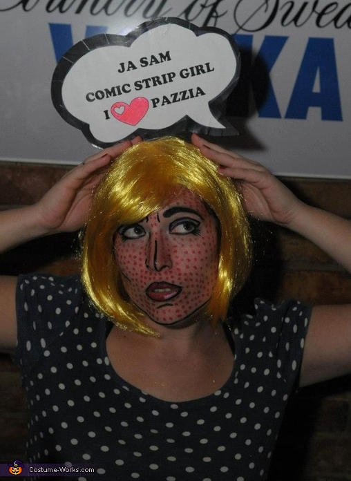 Comic Strip Girl Homemade Costume