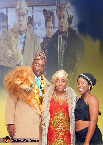Coming to America Family Homemade Costume