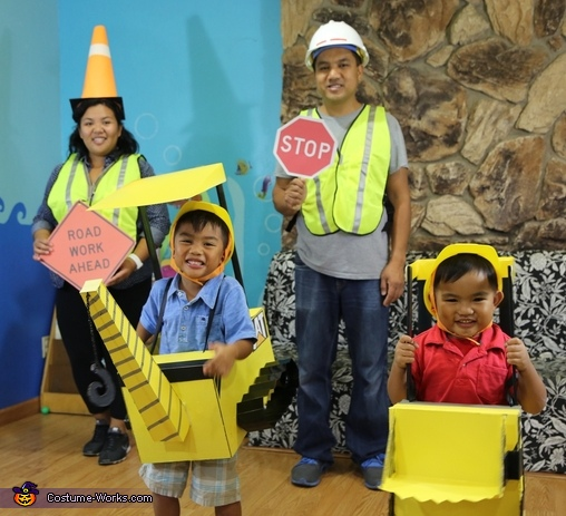 Construction Family Costume