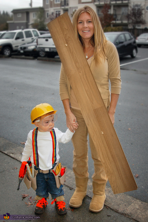 Construction Worker & Wood Costume