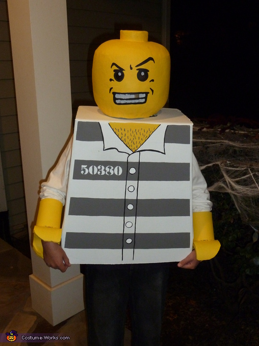 Convict Lego Minifigure Costume & Homemade Convict Lego Costume