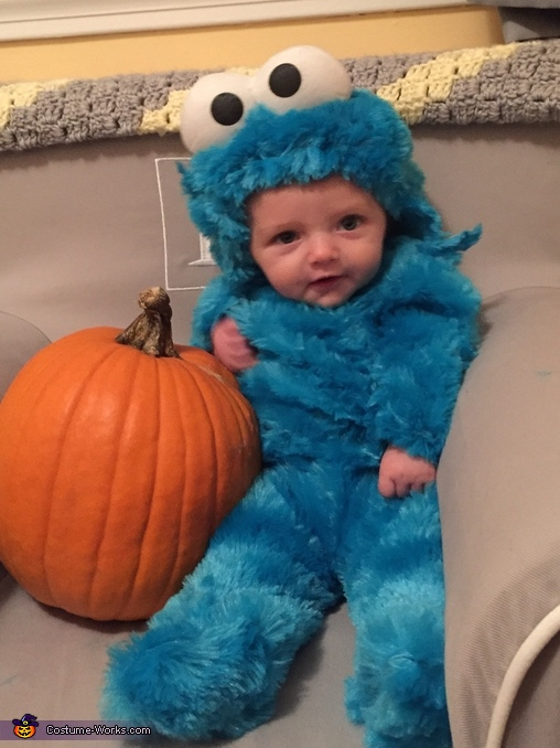 Our Happy Little Monster, Cookie Monster, Milk and Cookie Costume