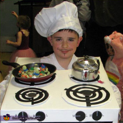 Chef Cook with Stove - Homemade costumes for boys