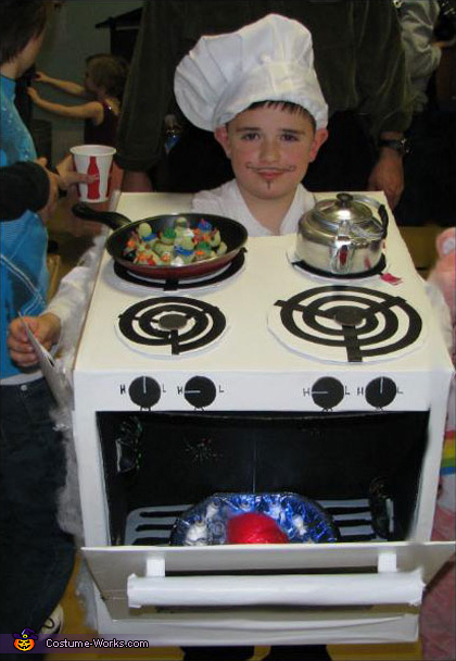 Chef Cook with Stove Costume