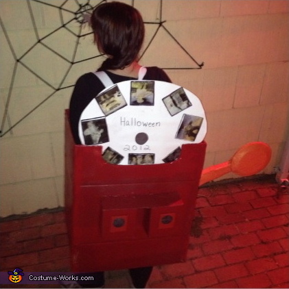 Back of Costume, Coolest Adult View Master Costume