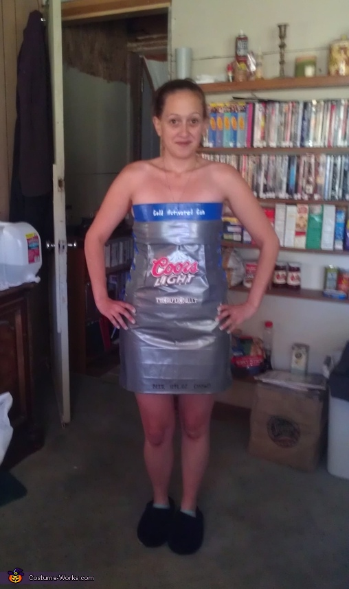 Coors Light Duct Tape Dress Costume