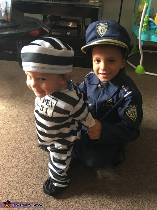 Cop And Prisoner Children S Costume
