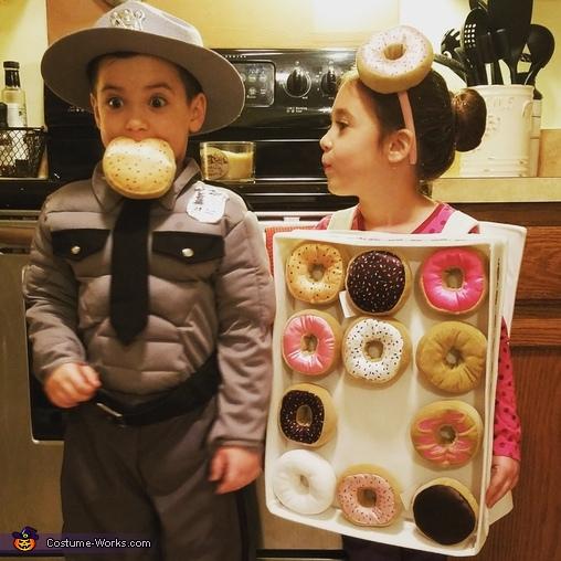 Cop & Doughnuts Costume