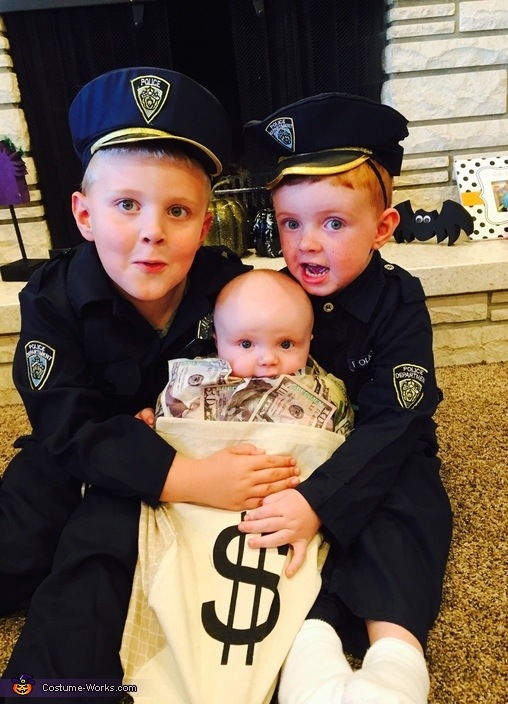 Cops With Money Bag Costume