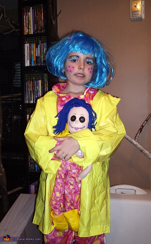 Homemade Coraline Costume
