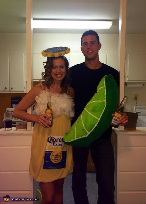 Corona & Lime Homemade Couple Costume