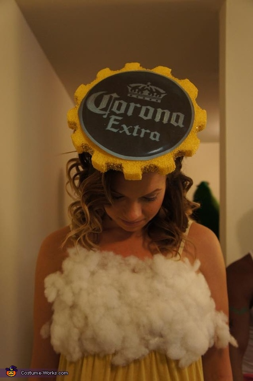 Corona Beer Cap Hat, Corona & Lime Homemade Couple Costume