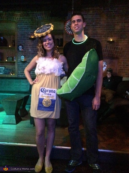Corona and Lime, Corona & Lime Homemade Couple Costume