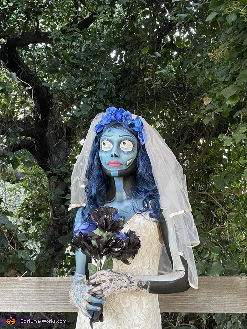 Corpse Bride by a fence, Corpse Bride Costume