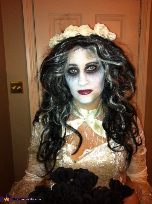 Close up of makeup, Corpse Bride Costume
