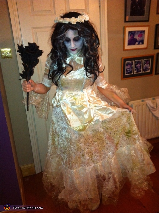 Grass and mud stained dress... , Corpse Bride Costume