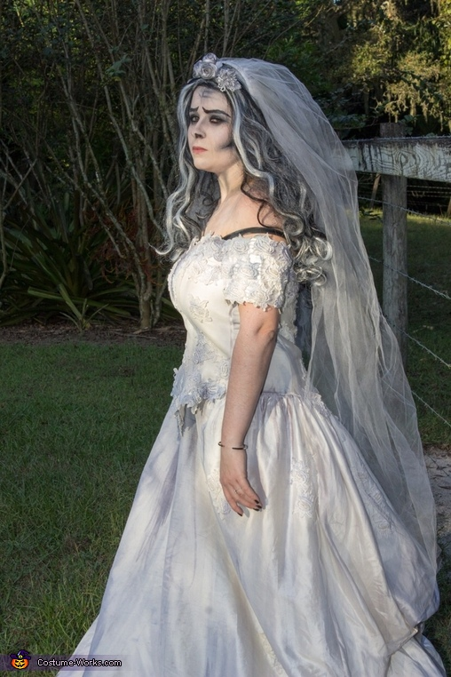 In a field, Corpse Bride Costume