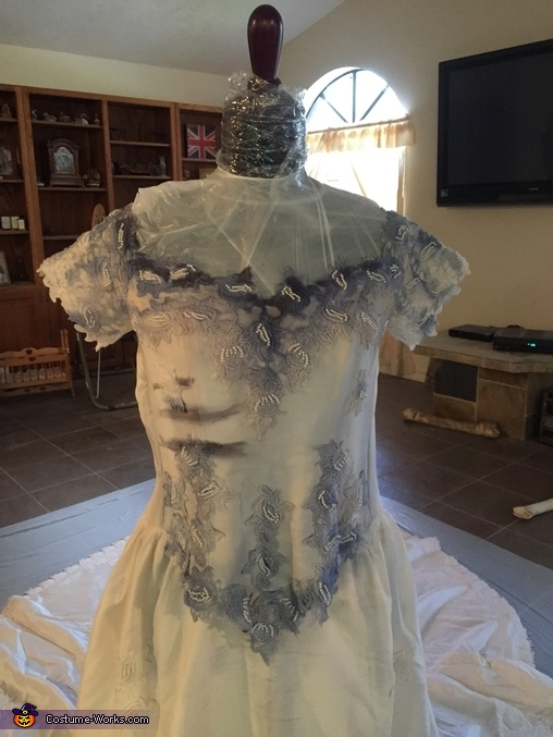 In process, Corpse Bride Costume