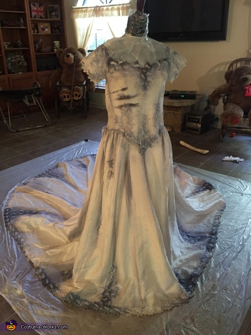 Finished front, Corpse Bride Costume