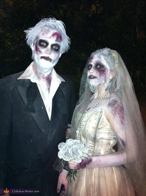Corpse Bride and Groom Costume