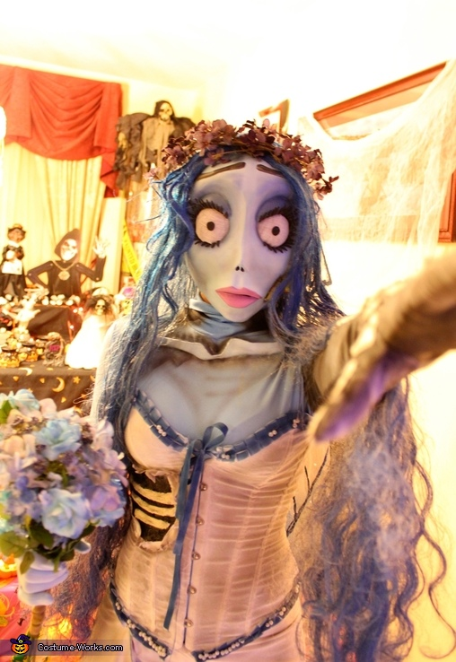 Corpse Bride and Groom Couple Costume