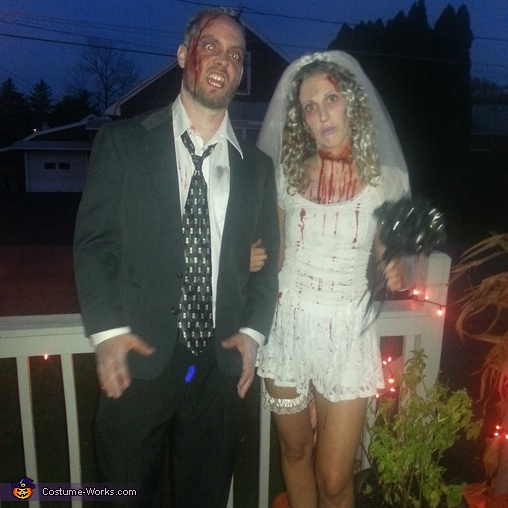 Corpse Bride and Groom Couple Costumes