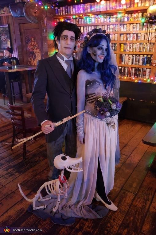 Corpse Bride and Scraps Costume