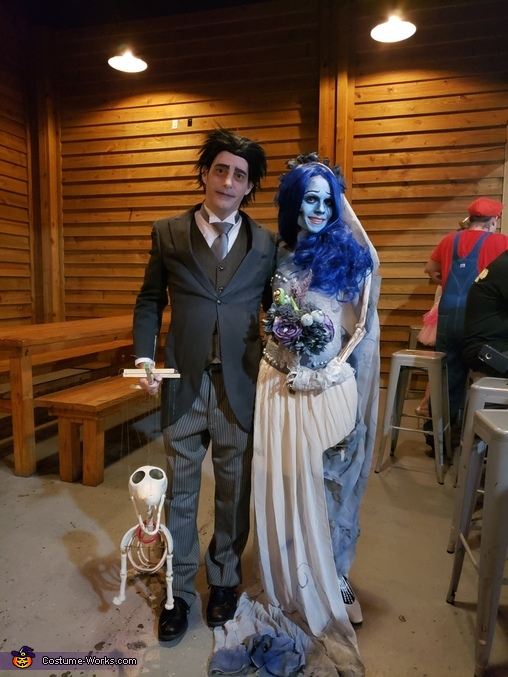 Victor, Emily, and Scraps, Corpse Bride and Scraps Costume