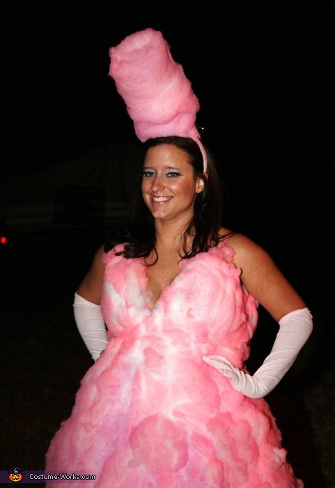 Cotton Candy costume, Homemade Cotton Candy Costume