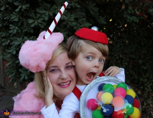 Cotton Candy and Gumball Machine Homemade Costume
