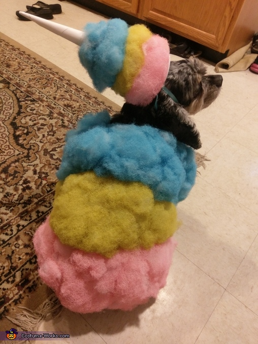 Cotton Candy Dog Homemade Costume