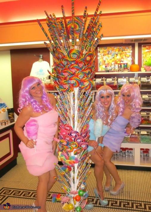 Cotton Candy Girls Homemade Costume