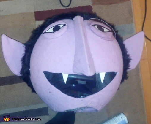 Completing the Head, Count Von Count Costume