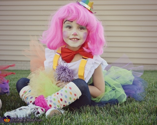 Addison aka rainbow squirt :P, Couple of Clowns Costume