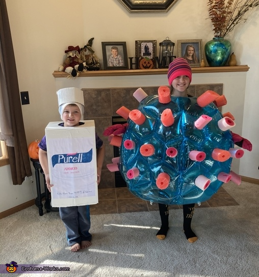 COVID and Hand Sanitizer Costume