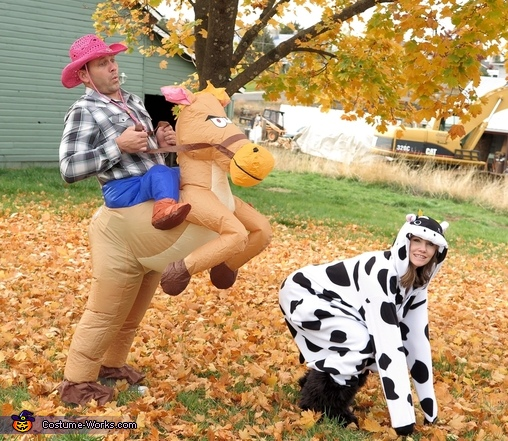 Cowboy and Cow Costume