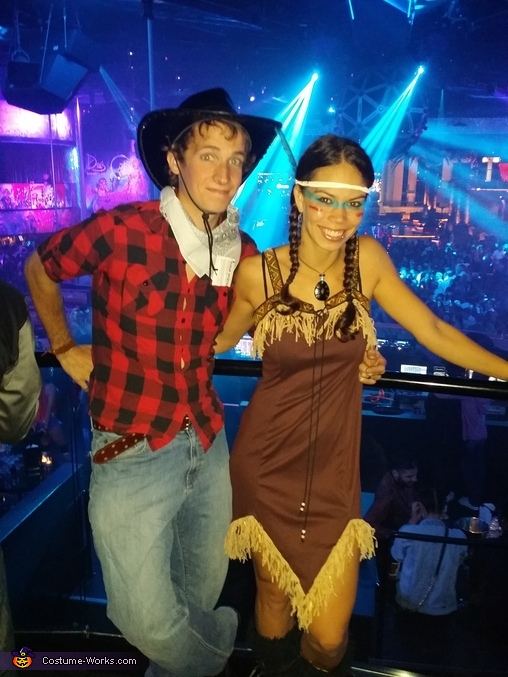Cowboy and Indian Couples Costume