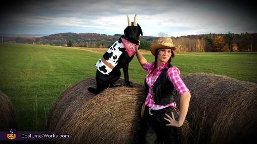 Happy Halloween 2014   by: Jenna, Cowgirl and her Pet Cow Costume