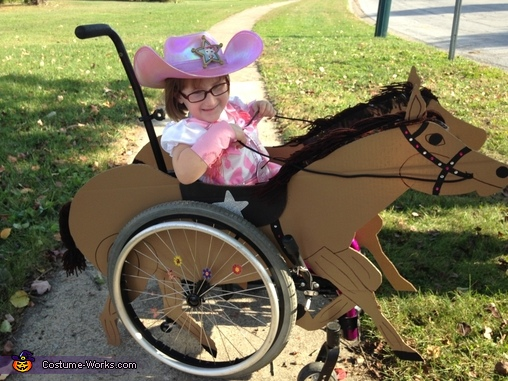 Cowgirl Riding her Horse Costume